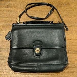 Vintage black coach leather purse